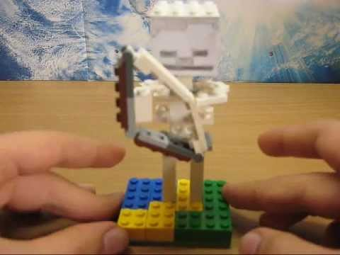 Lego Minecraft Skeleton Tutorial онлайн ролик видео как сделать из лего скелета для майнкрафтf як зробити із легоскілета лучніка із майнкрафт як зробити з лего майнкрафт як зробити із резинок скелета