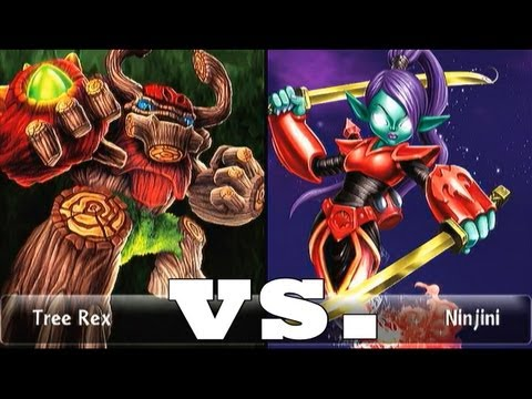 Кошки онлайн Scarlet Ninjini (15) vs Tree Rex (15) Lets Play Skylanders Duellmodus (German/Deutsch)